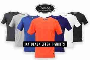 Katoenen Effen T-Shirts