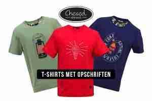 T-Shirts met opschriften